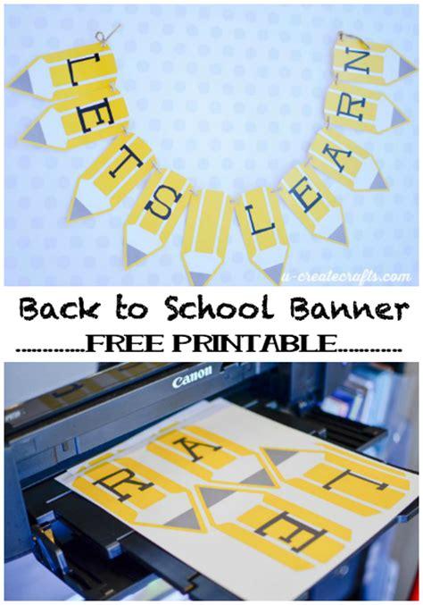 printable school banner free printable back to school pencil banner u create