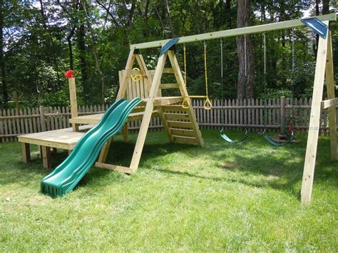 how to build a swing set how to build a simple swing set image mag