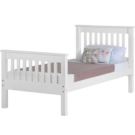 High End Futon Beds by Ville High End Single Bed Frame White At Wilko