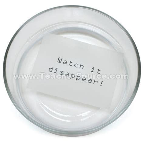 Make Dissolving Paper - chemistry dissolving paper