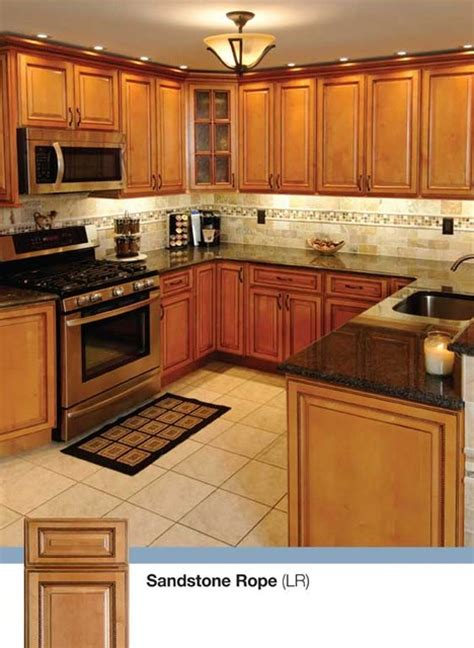 light brown kitchen light brown kitchen cabinets sandstone rope door