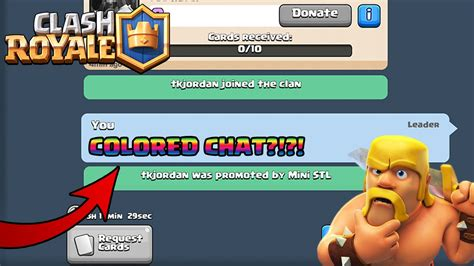 tutorial hack clash royale how to chat in colored chat in clash royale new clash