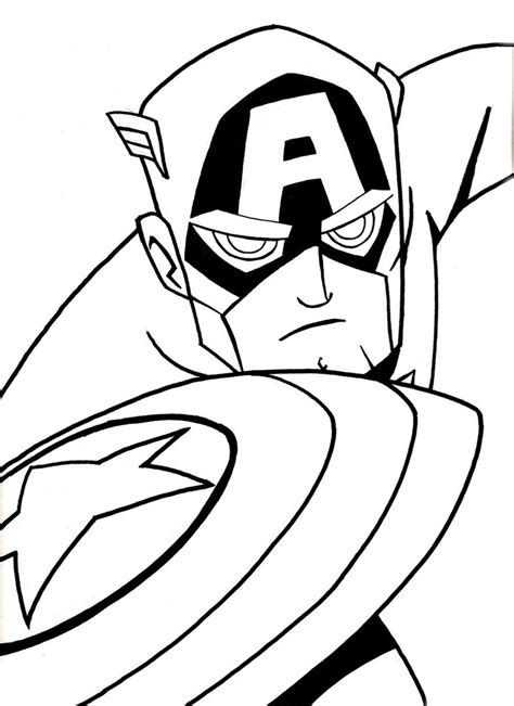inks captain america by natexopher on deviantart