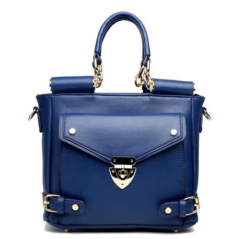 Shoulder Bag Pocket Navy l1631 miss lulu square front pocket large shoulder bag navy