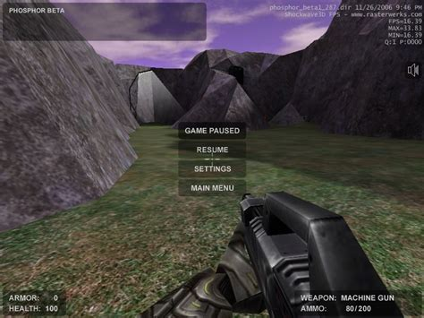 shooting games phosphor free online 3d first person shooter game