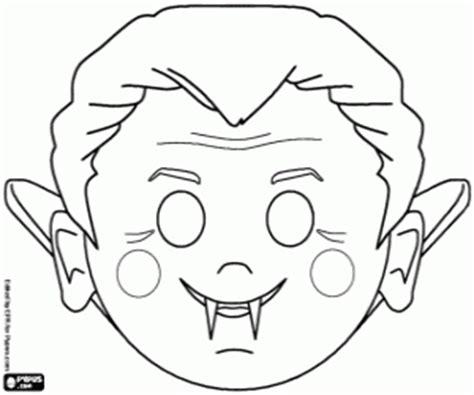 printable dracula mask a count dracula mask coloring page printable game