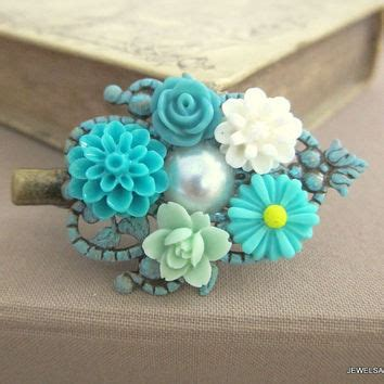 teal flower hair accessories best teal flower hair accessories products on wanelo