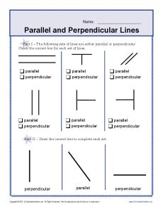 Parallel And Perpendicular Lines Worksheet Pdf by Line Segments 4th Grade