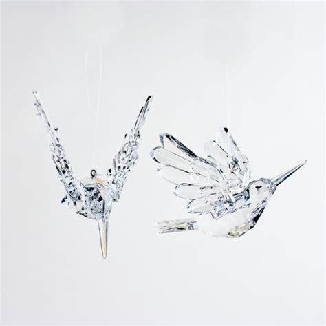 Crystal Clear Hummingbird Transparent Ornaments (set/24): NOVA68.com
