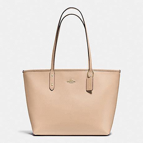 Coach Zip Tote coach f37785 city zip tote in crossgrain leather handbags