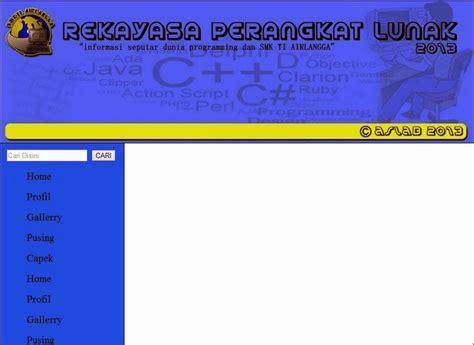 section html5 exle membuat kerangka website sederhana dengan tag html 5 css