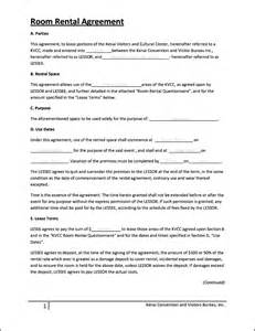 Template For Room Rental Agreement Room Rental Agreement Template Sample Invitations