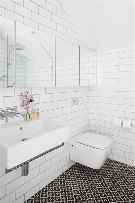 Black And White Tile In Bathroom by Popular Materials Of White Tile Bathroom Midcityeast