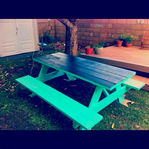 cool painted picnic tables picnic table with chalkboard painted top such a great