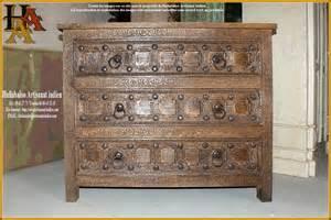 commode bois massif 3 tiroirs jn9 ca1 meubles indiens d 233 co