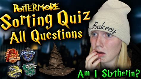quiz questions youtube full pottermore sorting quiz all questions youtube