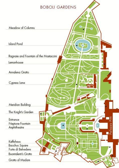 giardino di boboli pianta giardino di boboli polo museale fiorentino http www