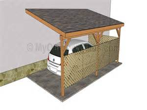 House Plans With Carport by Attached Carports 16 X 20 Attached Carport Plans Designs