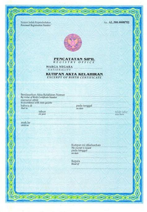 Pembuatan Akta Kelahiran Jakarta | pangkalan bun kota manis syarat pembuatan akta kelahiran