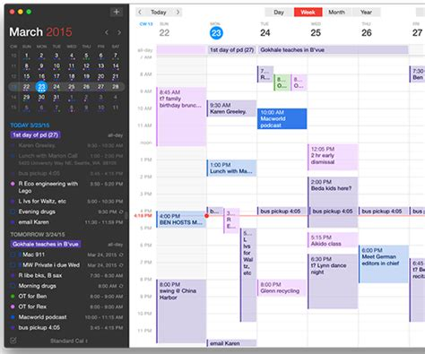 Calendars 5 Vs Fantastical 2 Apple Timeline In Pictures And Features Macworld Uk