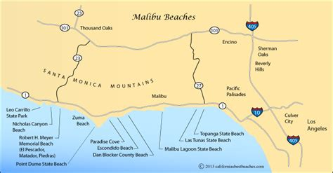 california map malibu malibu lagoon state directions
