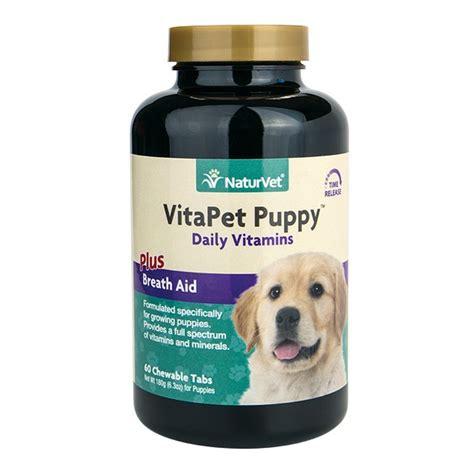 puppy supplements naturvet puppy vitamin chewable tablets naturalpetwarehouse