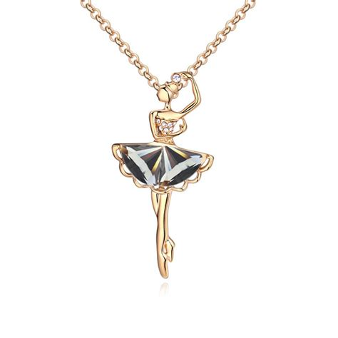 Kalung New Fashion Jewelry Gold Chain Necklace Pendant B 1 fashion glass ballerina figure pendants necklace gold