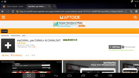 aptoide android tv exemple mycanal aptoide android droid tv fr blog sur l
