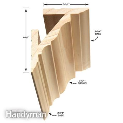 how to install crown molding on top of kitchen cabinets how to install crown molding the family handyman