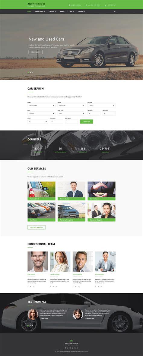 Car Trader Bootstrap Template Bike Showroom Website Template Free