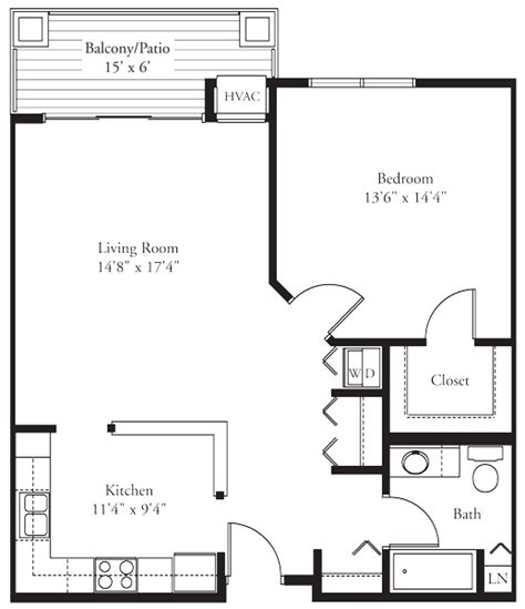 one level living floor plans the reading 1 bedroom condo elk river spacious senior