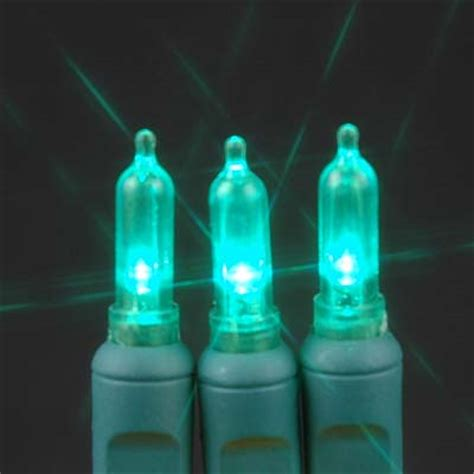 green 35 light traditional candle tip led christmas lights