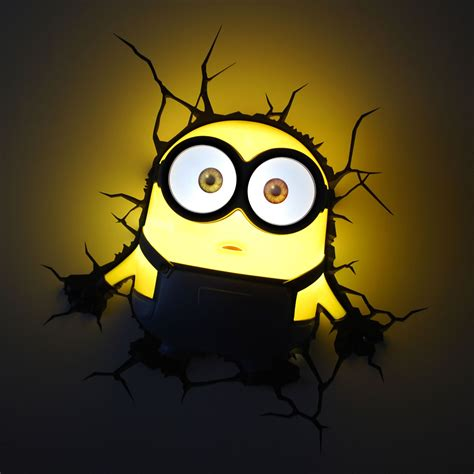Childrens Bedroom Wall Lights Minions 3d Led Wall Lights New Bedroom Accessory 100 Official Free P P