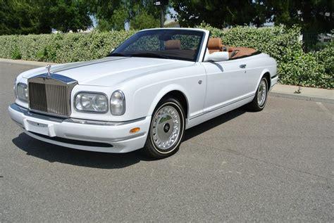 rolls royce white convertible 2001 rolls royce corniche convertible 161903