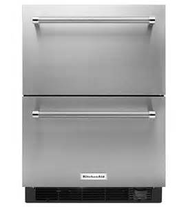 kitchenaid 174 24 quot stainless steel refrigerator freezer drawer
