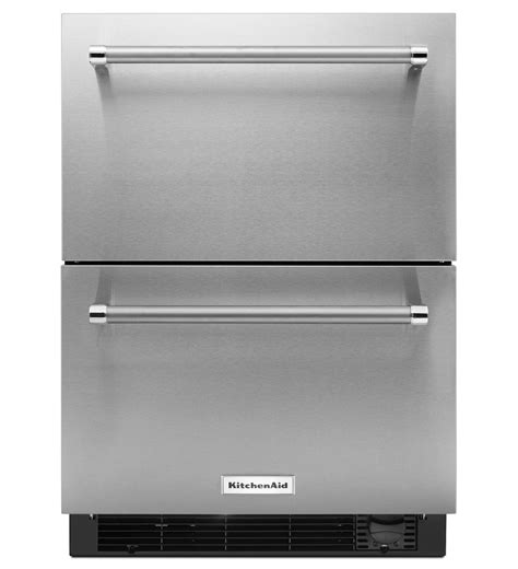 Kitchenaid Refrigerator Drawers kitchenaid 174 24 quot stainless steel refrigerator freezer drawer