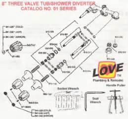 Three Handle Shower Faucet Repair Removable Of Old Shower Diverter From Faucet It Is Ceased