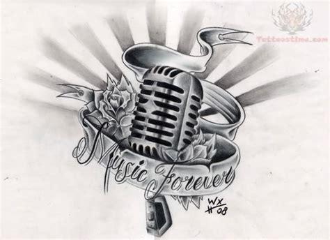music is life tattoo designs forever design