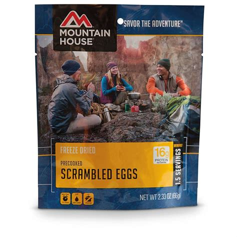 mountain house food mountain house emergency food freeze dried scrambled eggs