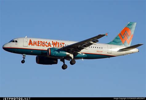 n804aw airbus a319 132 america west airlines fokker aircraft jetphotos