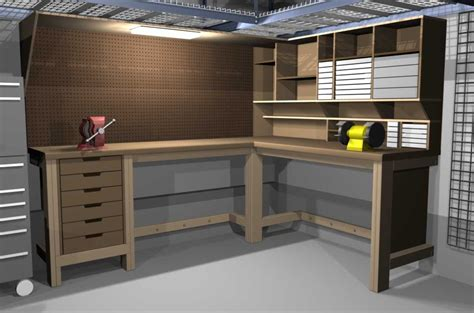 garage work table designs garage workbench on workbench plans