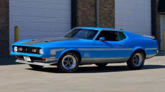 1971 ford mustang mach 1 fastback scj 429 375 hp 4 speed lot f155