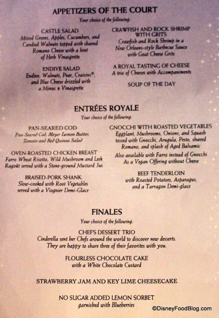 review cinderella s royal table dinner in the magic