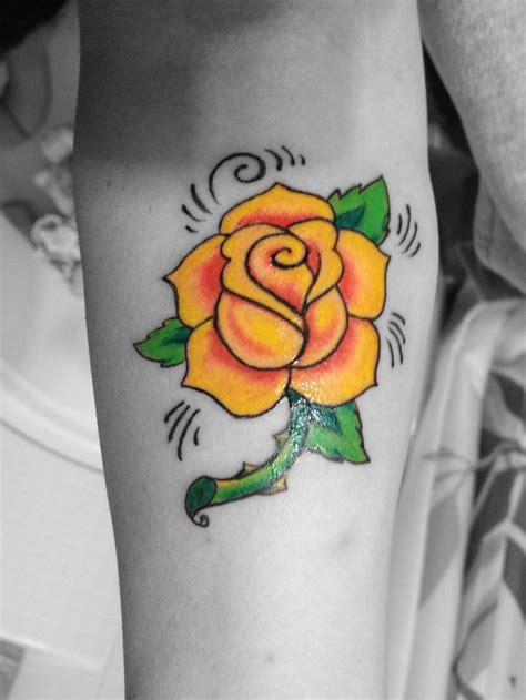 rose remembrance tattoo yellow memorial for my tatoos