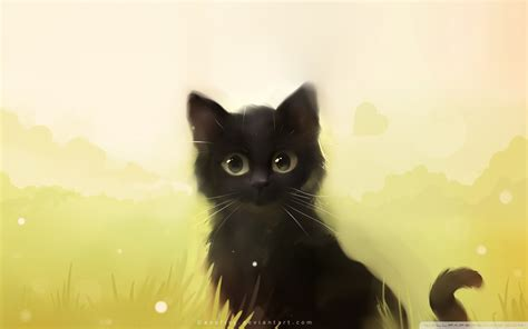 wallpaper cute anime cat apofiss themes 816908 walldevil