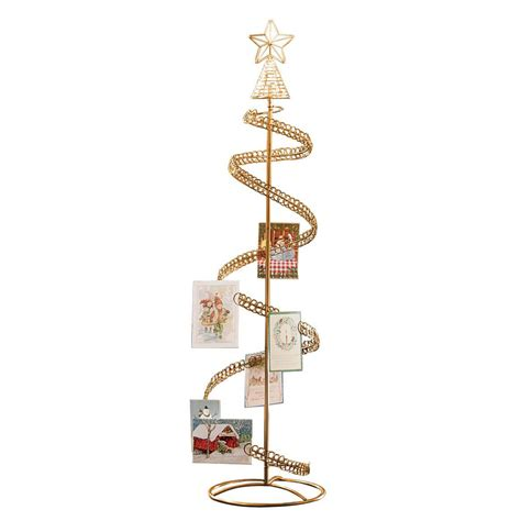 christmas tree card holder spiral tree card holder