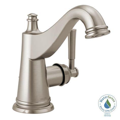 Bathroom Faucets Brushed Nickel - moen adler 4 in centerset single handle bathroom faucet
