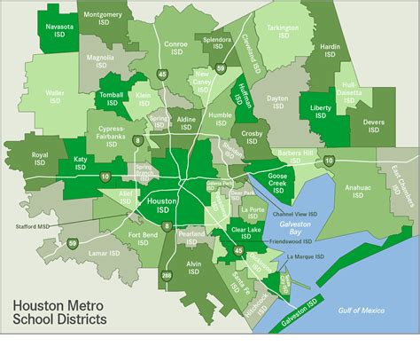 houston map by district houston map vector