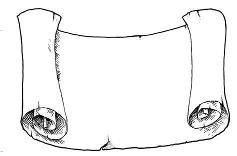scroll template paper scroll template clipart best