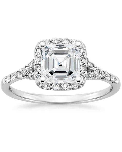 asscher cut rings wedding promise